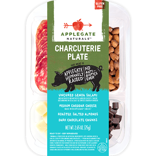 Applegate Naturals Genoa Charcuterie Plate with Cheddar