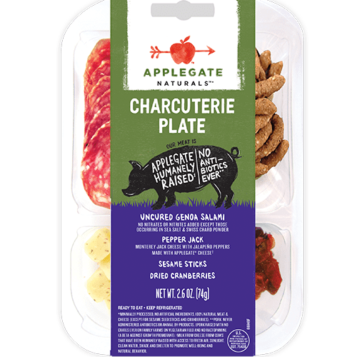 Applegate Naturals Genoa Charcuterie Plate with Pepper Jack