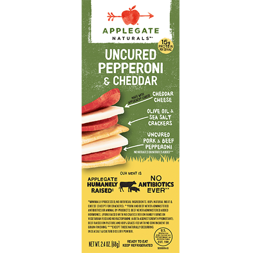 Applegate Naturals Pepperoni and Cheddar Snack Pack
