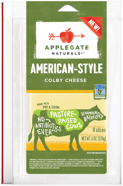 Applegate Naturals American-Style Colby Cheese