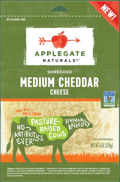 Applegate Naturals Shredded Medium Cheddar Cheese