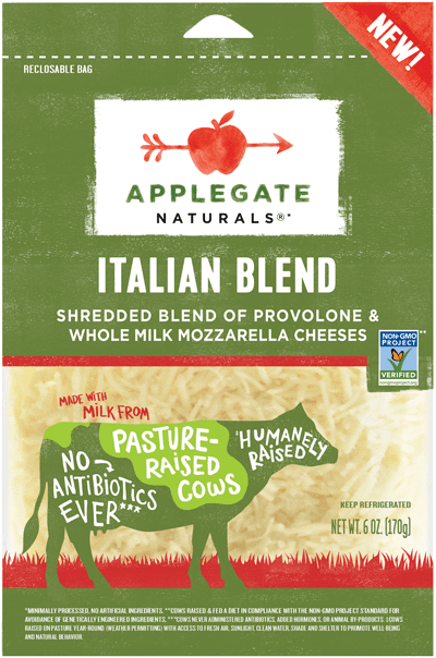 Applegate Naturals Shredded Italian Blend Cheese