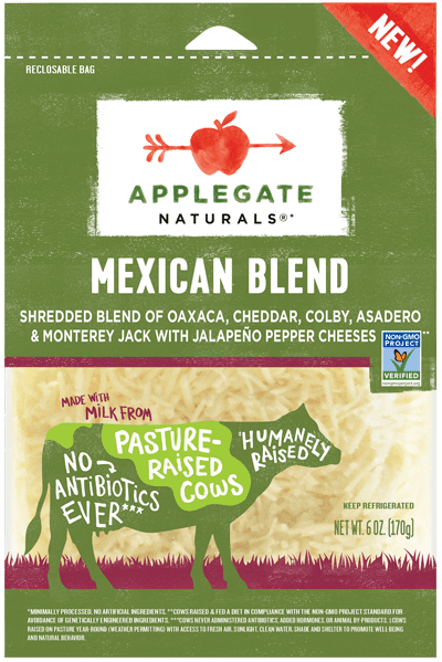 Applegate Naturals Shredded Mexican Blend Cheese