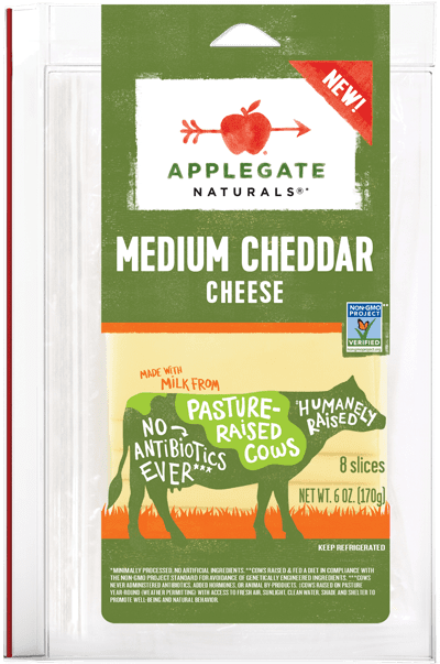 Applegate Naturals Medium Cheddar Cheese-1