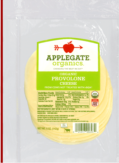 Applegate Organics Provolone Cheese