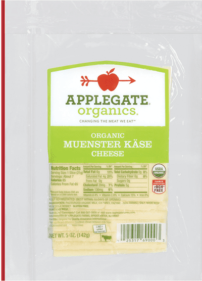 Applegate Organics Muenster Kase Cheese