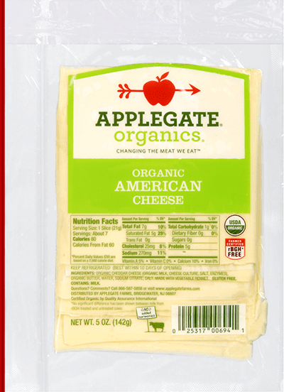 Applegate Organics American Cheese