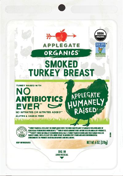 Applegate Organics Smoked Turkey Breast