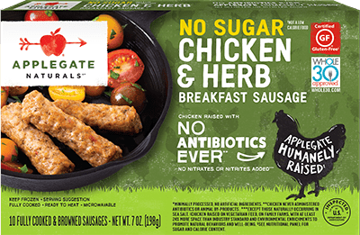 Applegate Naturals No Sugar Chicken & Herb Breakfast Sausage