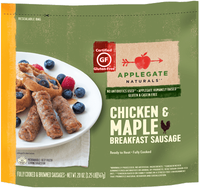 Natural Chicken and Maple Breakfast Sausage - Family Size