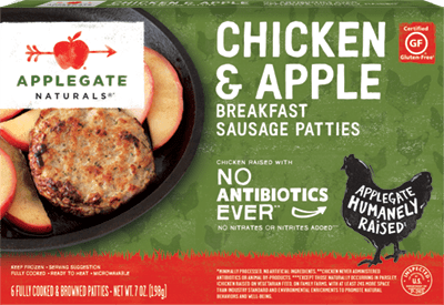 Natural Chicken and Apple Breakfast Sausage Patties