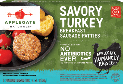 Natural Savory Turkey Breakfast Sausage Patties