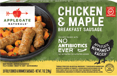 Natural Chicken and Maple Breakfast Sausage