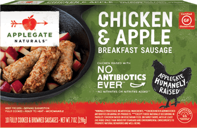 Natural Chicken and Apple Breakfast Sausage