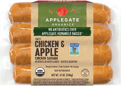 Applegate Organics Chicken & Apple Sausage