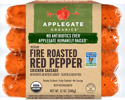 Applegate Organics Fire Roasted Red Pepper Sausage