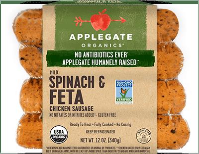 Applegate Organics Spinach & Feta Sausage