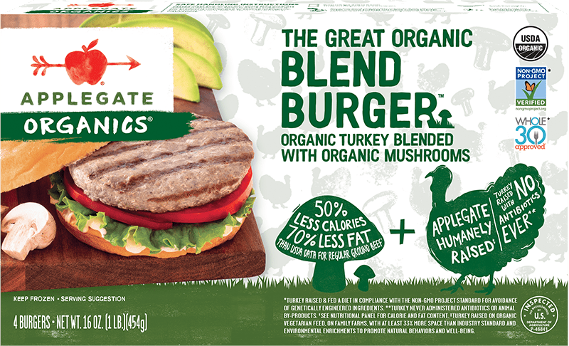 Applegate Organics The Great Organic Blend Burger Turkey Burger