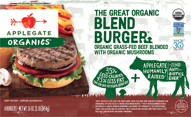 Applegate Organics The Great Organic Blend Burger Beef Burger
