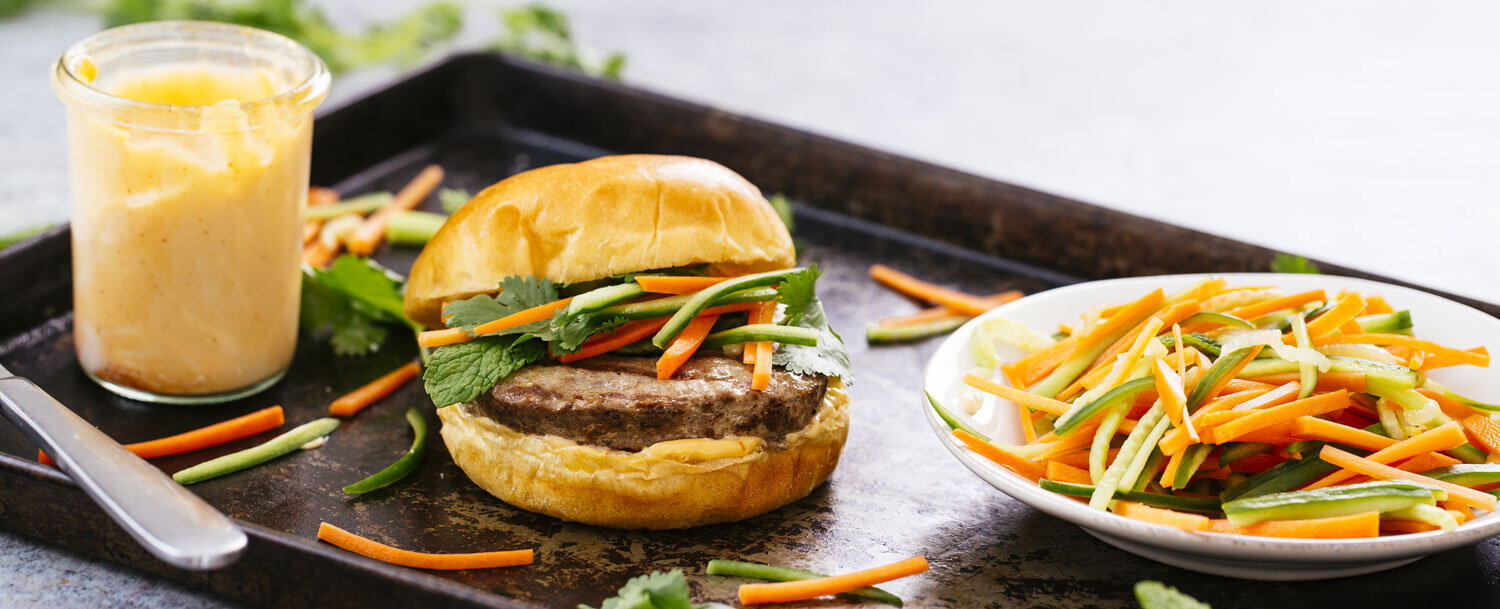 Banh mi turkey burger recipe