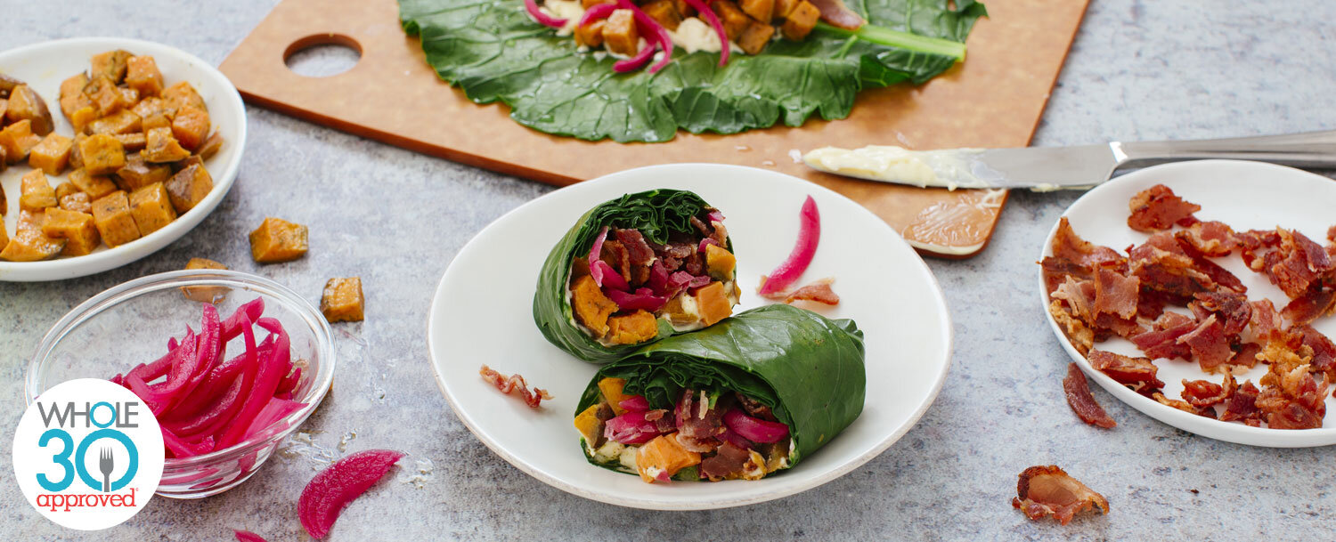Bacon and sweet potato wrap recipe