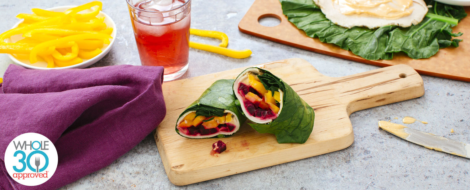 Roast turkey collard wrap recipe