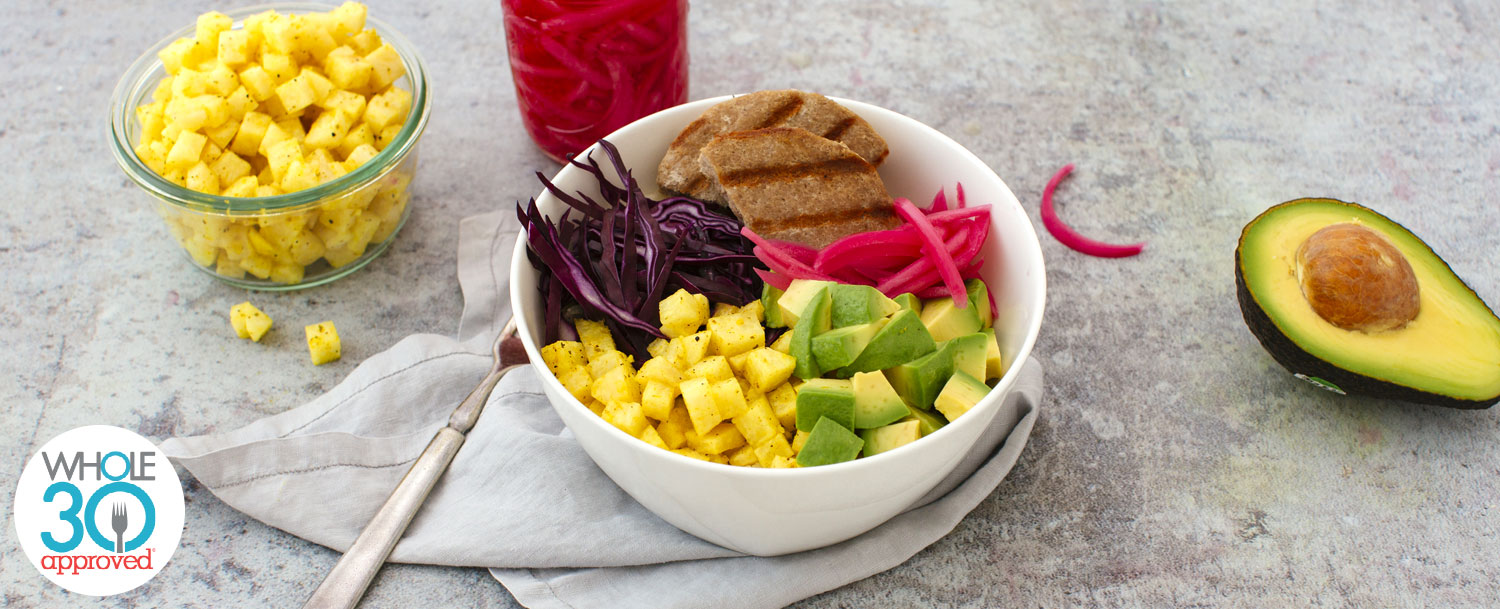 Turkey rainbow bowl recipe
