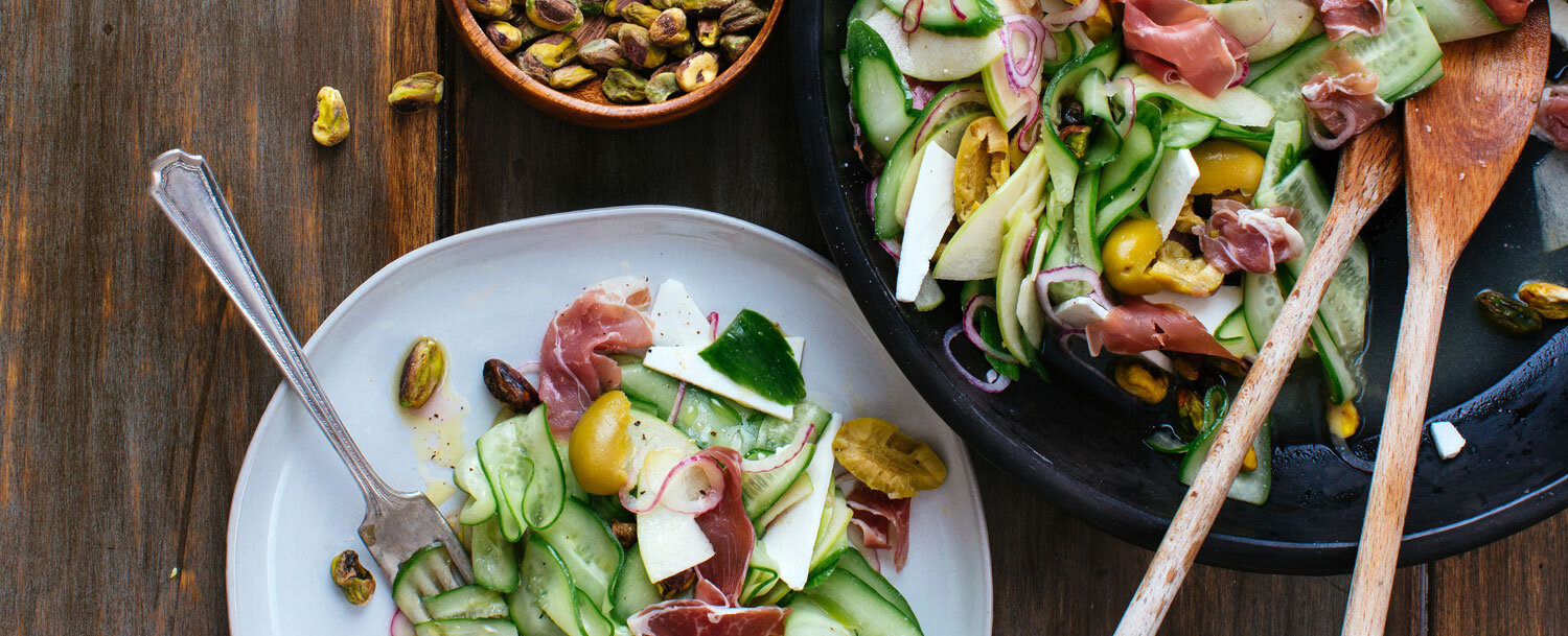 Cucumber and prosciutto salad recipe