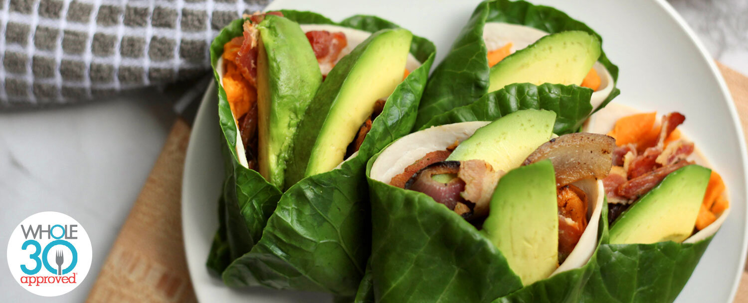 Turkey collard bacon wraps