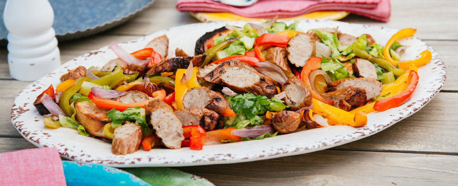 Sausage pepper salad recipe