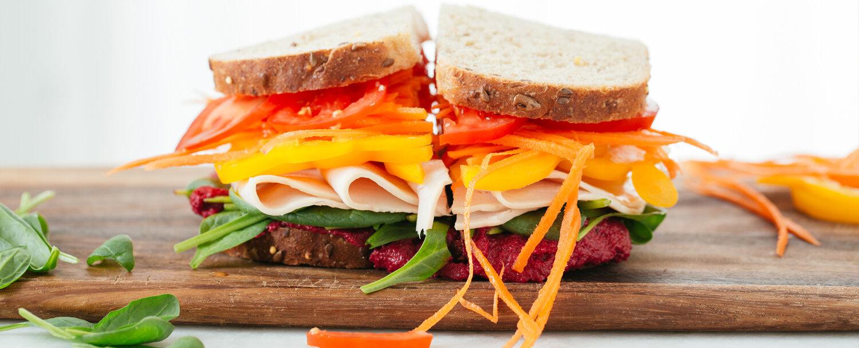 Rainbow turkey sandwich recipe