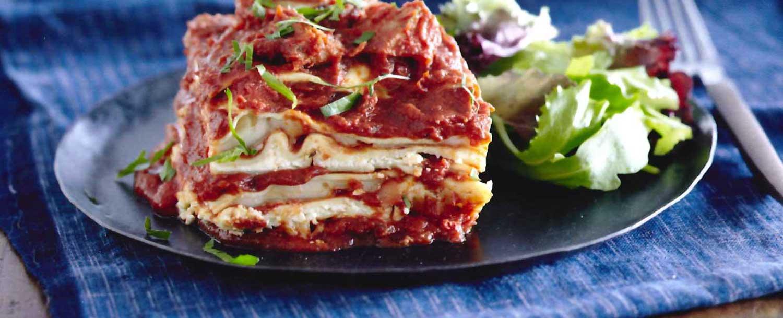 Scrumptious sausage lasagna