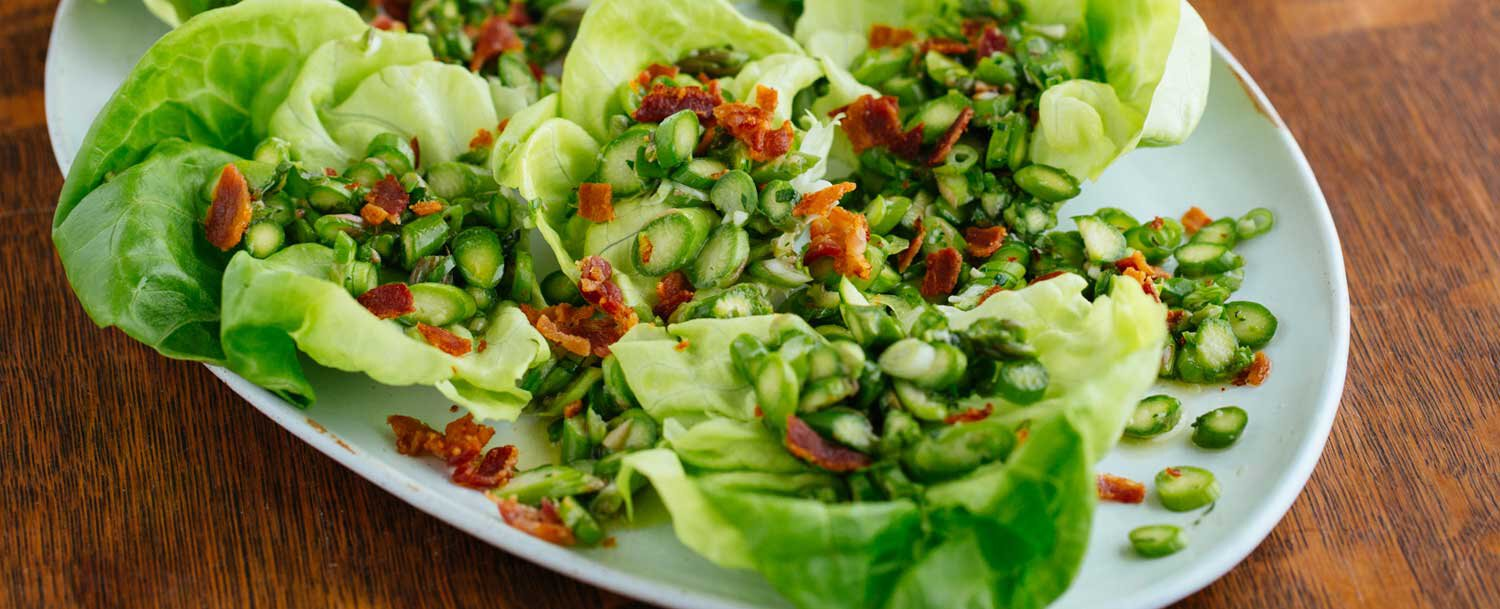 Asparagus salad with bacon