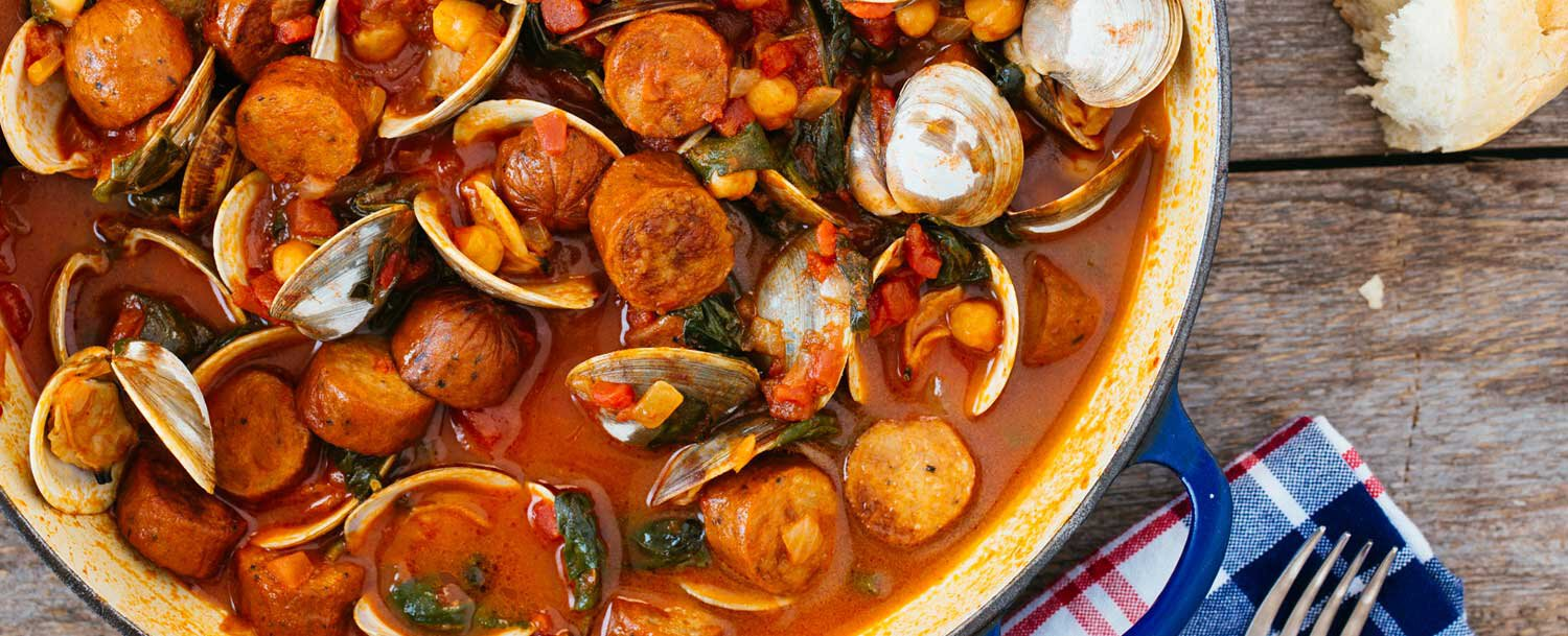 Spicy clam stew