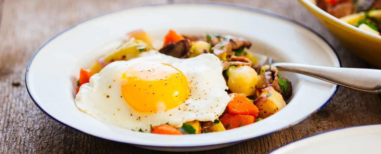 Roast beef crash hash recipe