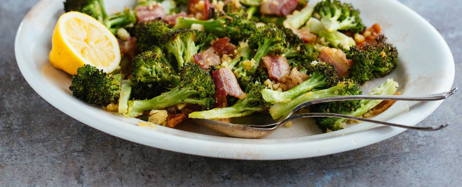 Roasted broccoli bacon recipe