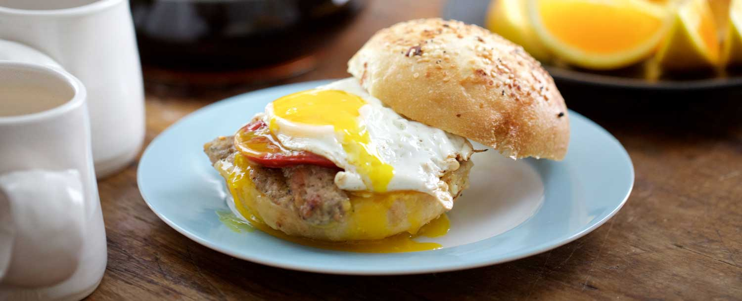 Chicken sage breakfast sandwich