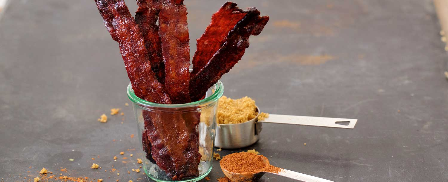 Cocoa candied bacon recipe