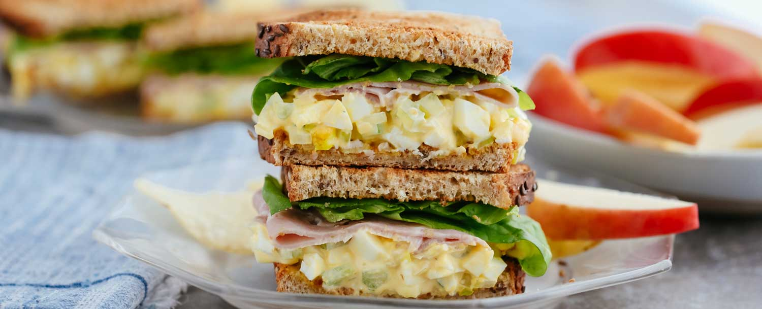 Ham and egg salad sandwich recipe