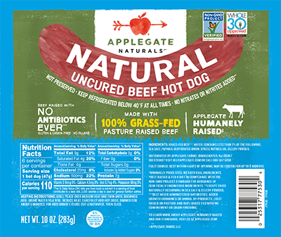 Applegate Naturals Beef Hot Dog