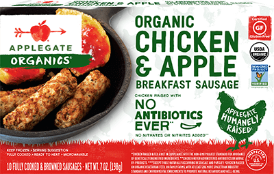 Applegate Organics Chicken & Apple Breakfast Sausage