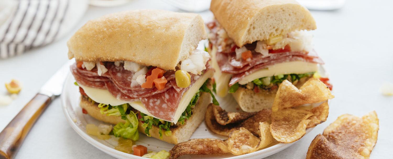 Ultimate salami sandwich