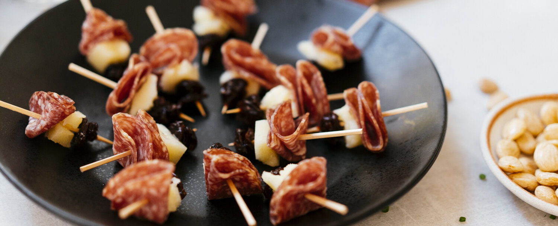 Salami skewers