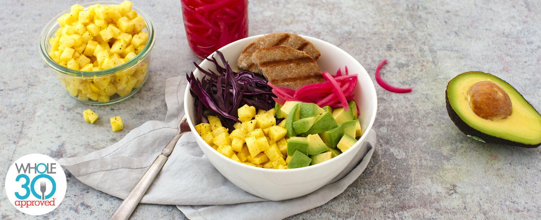 Turkey rainbow bowl recipe