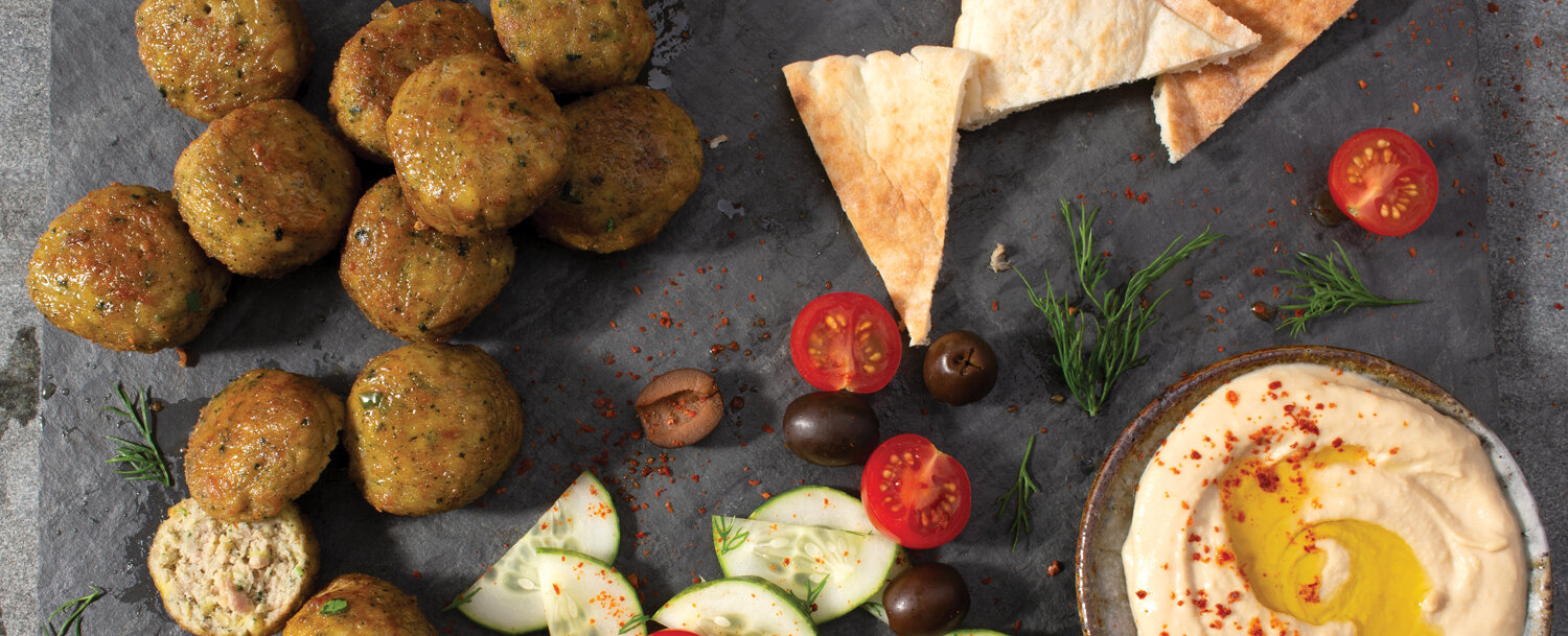 Turkey meatballs mezze