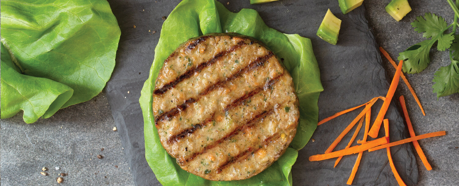 Turkey burger lettuce wrap