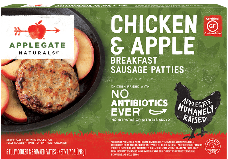 Nat chicken apple patties front