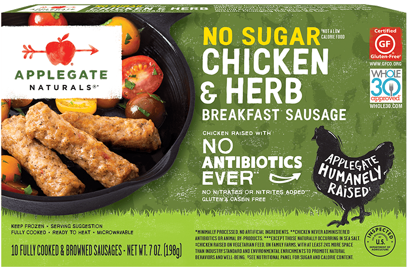 No sugar chicken herb front