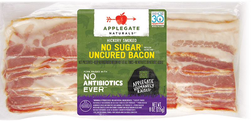 Natural no sugar bacon front