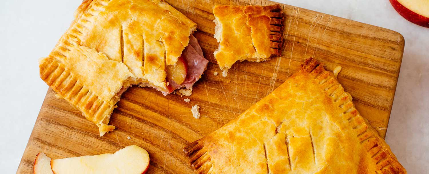 Ham cheese apple tart